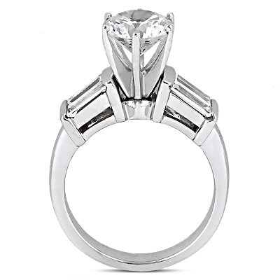 2.51 Carats diamond engagement ring white gold jewelry