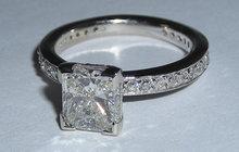 2.26 ct WHITE GOLD DIAMOND engagement ring CUSTOMIZED