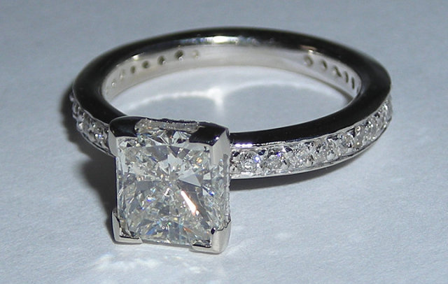 2.26 ct WHITE GOLD DIAMOND engagement ring CUSTOMIZED