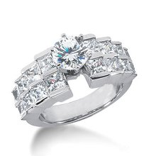 3.51 carat diamonds right hand anniversary ring gold