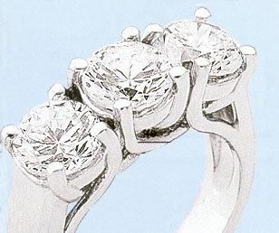 3 carat diamond engagement ring PLATINUM G VS1 diamonds