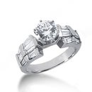 3 carat round diamonds anniversary ring white gold