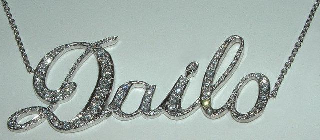 UPSCALE diamond NAME PENDANT initials gold necklace