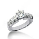 Diamonds 3.51 ct. engagement ring white gold new