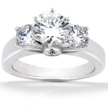 2.62 carat diamonds 3 stone ring F VS1 diamond ring new