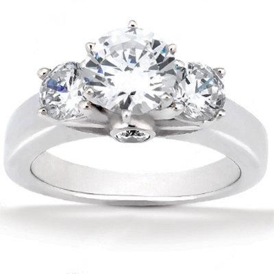 2.62 carat diamonds 3 stone ring F VS1 diamond ring new
