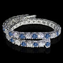 14 carat white blue diamonds tennis bracelet gold white