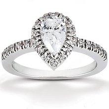 Pear cut diamond ring 2 cts. Diamonds gold wedding ring