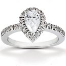 Pear cut diamond ring 2 cts. Diamonds gold wedding ring