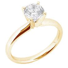 Yellow gold & diamond 1.75 carat ring 4 prong set ring