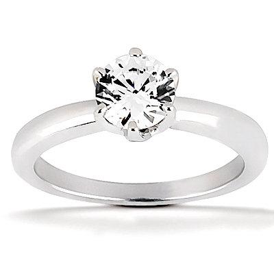 DIAMOND SOLITAIRE 1.75 ct. diamonds F VS1 gold ring