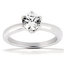 DIAMOND SOLITAIRE 1.75 ct. diamonds F VS1 gold ring