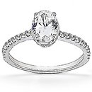 Oval cut diamond ring F VVS1 diamonds 2.10 ct. gold new