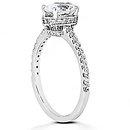 Oval cut diamond ring F VVS1 diamonds 2.10 ct. gold new