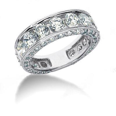 4.51 carats diamonds engagement ring band set gold ring