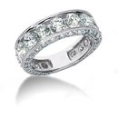 4.51 carats diamonds engagement ring band set gold ring