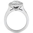 F VVS1 diamonds emerald cut solitaire ring 2.25 carats
