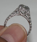 3.5 carat diamonds engagement ring micro pave gold ring
