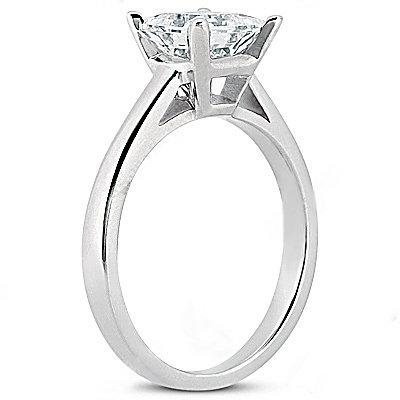 Princess cut 2.01 ct. DIAMOND RING G SI1 diamond gold