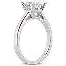 Princess cut 2.01 ct. DIAMOND RING G SI1 diamond gold
