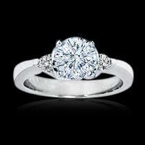 2.01 carat diamonds 3 stone engagement ring gold white
