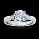 2.01 carat diamonds 3 stone engagement ring gold white