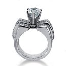 Men's diamonds ring 3.51 cts. gold engagement ring new