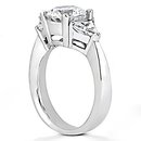 2.25 Ct. Diamonds three stone wedding ring white gold