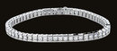 14 Carats diamond channel bracelet white gold bracelet