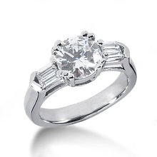 2.50 carat Round diamonds engagement ring gold new