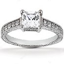 2.51 ct. DIAMOND RING princess cut WEDDING jewelry