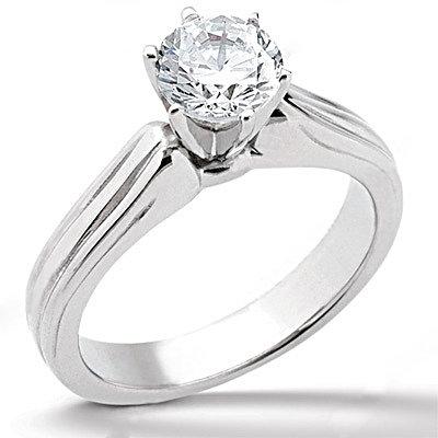 Diamond F VS1 solitaire gold wedding ring 2.01 carats