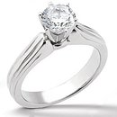 Diamond F VS1 solitaire gold wedding ring 2.01 carats