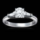2.25 carat diamonds 3-stone engagement ring gold new