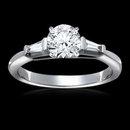 2.25 carat diamonds 3-stone engagement ring gold new