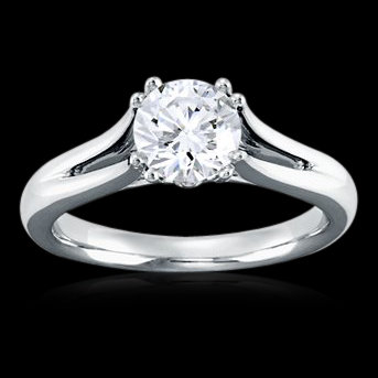 2.01 carat diamond solitaire ring high brilliance ring