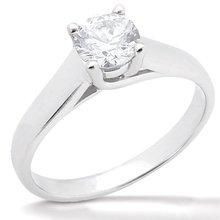 2.0 Ct. Diamond F VS1 solitaire ring prong style gold