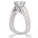 Solitaire F VS1 DIAMOND RING 2.01 CT. white gold new