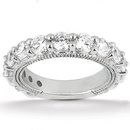 F VS1 diamonds 3.75 carat engagement ring diamond band