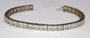 16.57 ct PRINCESS DIAMOND TENNIS BRACELET WG CUSTOMIZED