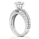 2.5 Carat diamonds F VVS1 engagement ring prong setting