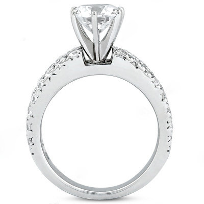 2.5 Carat diamonds F VVS1 engagement ring prong setting