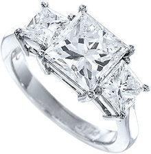 3 ct princess real DIAMOND engagement ring CUSTOMIZED