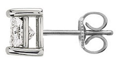 Single 1.50 ct. E VVS1 diamond stud men earring gold