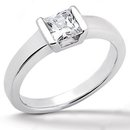 White gold diamond solitaire ring E VVS1 diamond 1.5 ct