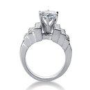 F VVS1 diamonds engagement ring 3.51 carat diamond gold