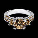 3.50 carat champagne brown diamonds ring gold white