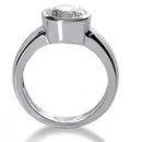 G SI1 Diamonds 2.25 ct. white gold solitaire ring new