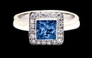 2.80 carat blue white diamonds engagement ring gold new