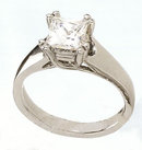 2.01 carat PRINCESS solitaire DIAMOND RING engagement